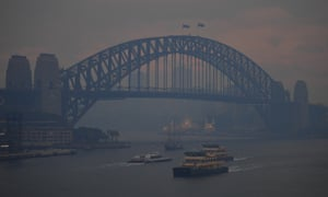 No filter: haze from bushfires blanket Sydney.