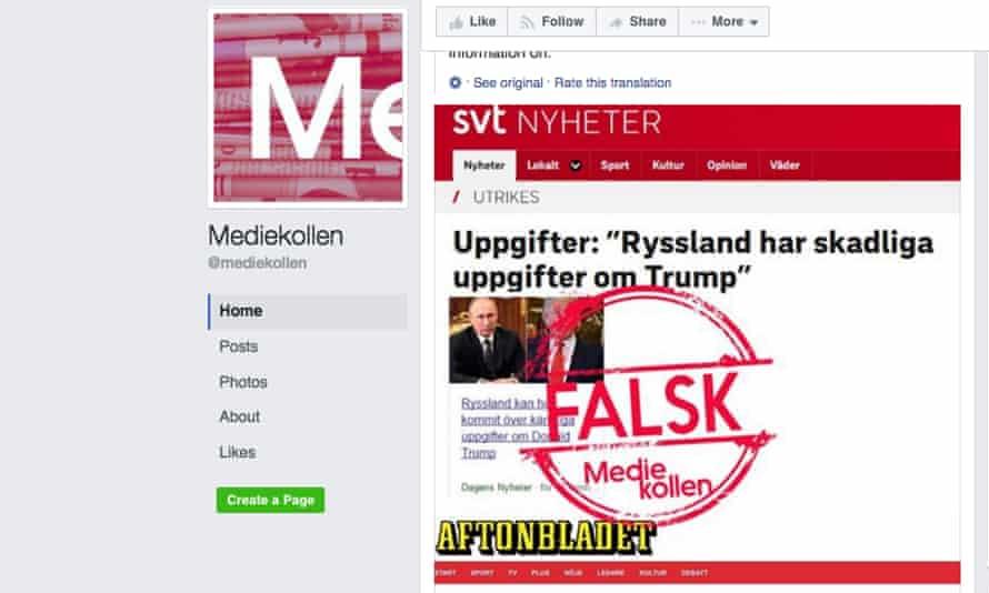 Mediekollen's Facebook page