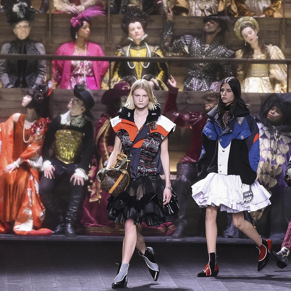 Louis Vuitton Spurns Coronavirus Fears With Dramatic Closing Show At Louvre Fashion The Guardian
