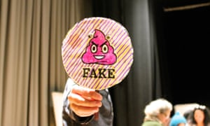 Fake paddle at the Guardian Education Centre Cartoon and art family day 17 November 2018