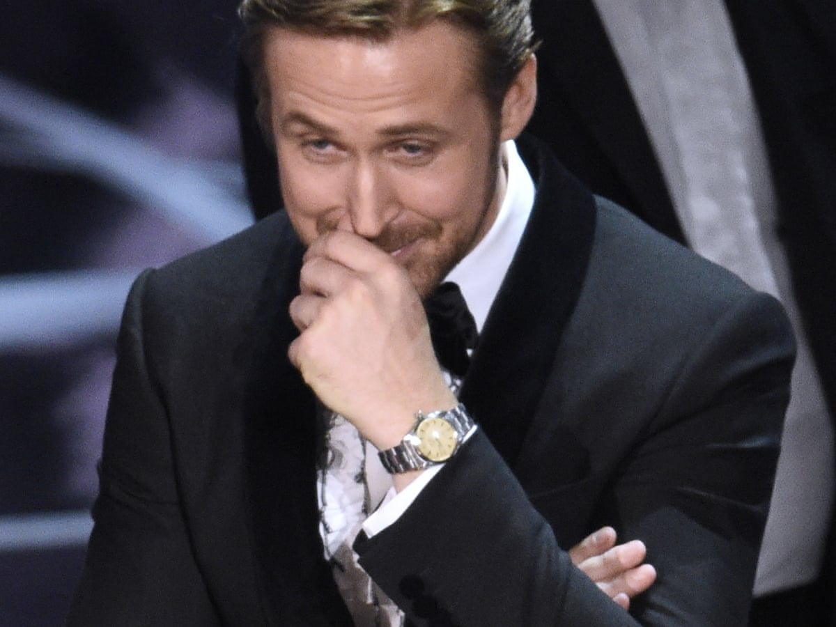 Ryan Gosling explains why he laughed at Oscars envelope mix-up | Ryan Gosling | The Guardian