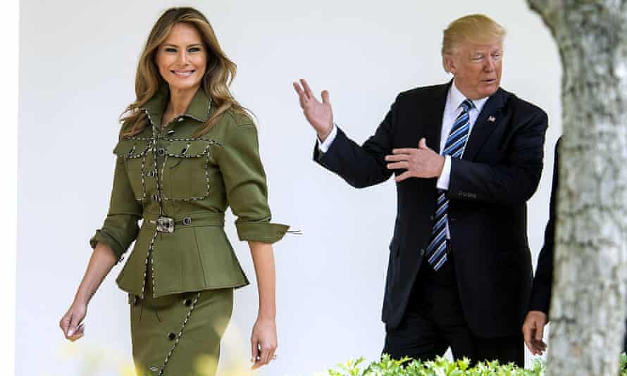 Melania Trump's Twitter account favourited a post critical of her husband.
