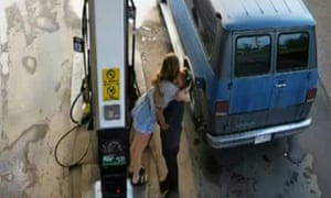 A video grab from CCTV footage taken on 13 July shows murder victims Lucas Fowler, 23, and Chynna Deese, 24, at a gas station in Fort Nelson, British Columbia.