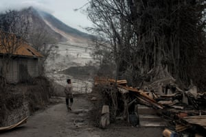 Tens of thousands of people have been displaced since Sinabung rumbled back to life in 2013 after a period of inactivity