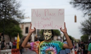 'We should not spread hate to separate us. We need to be united, that is why we are the United States of America,' says Anonymous.