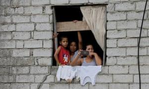 A family in Ecuador