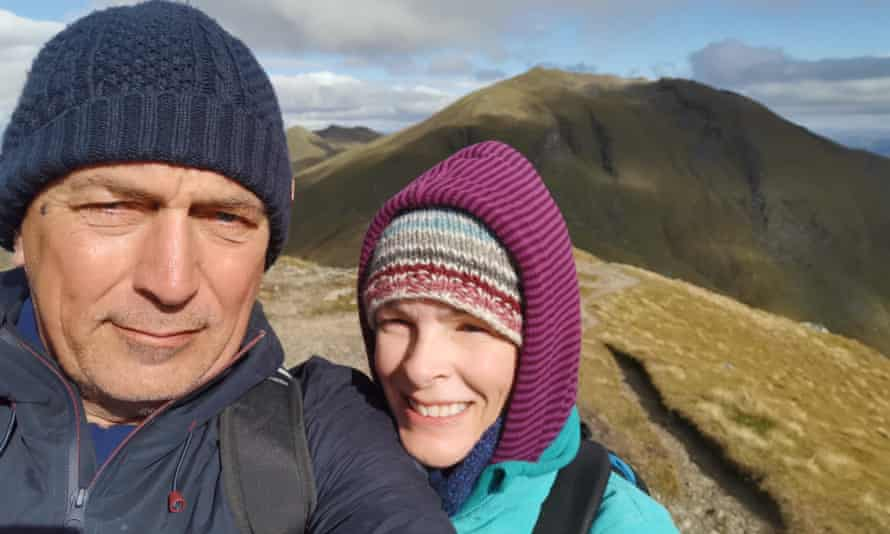 'It took me five days to recover …' Will and Chloe on top of Ben Lawers.