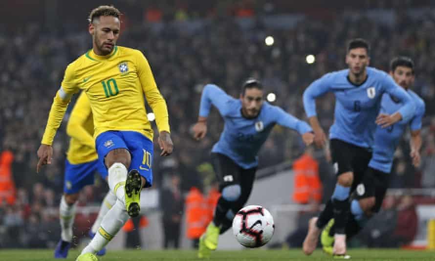 Neymar scores the winner from the penalty spot