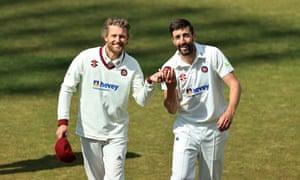 Gareth Berg, left, and Ben Sanderson of Northamptonshire