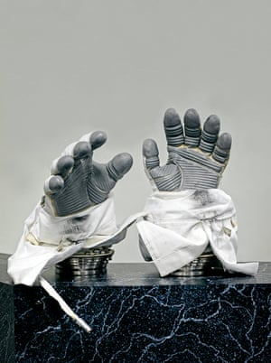 The Phase VI space gloves used on the International Space Station. They are custom made for each astronaut. 2017