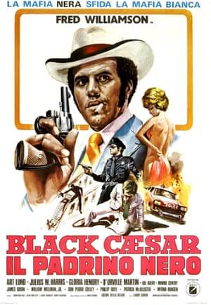 An Italian poster for Black Caesar, 1973
