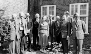 Margaret Thatcher in 1979 with Conservatives including Humphrey Atkins, third from left, and Francis Pym, third from right