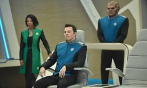 The Orville: Penny Johnson Jerald, Seth MacFarlane and Peter Macon in the space adventure series