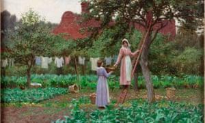 Edmund Blair Leighton's September, 1915. Part of The Enchanted Garden.