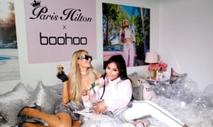 Paris Hilton and Lil' Kim attend Boohoo's Paris Hilton Collection launch party in California.