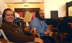 Kubrick and Jack Nicholson on the set of The Shining.