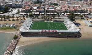 The beachside location for the Socca Six-a-side World Cup in Crete 2019.