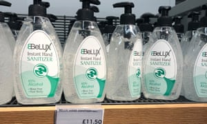 £11.50 hand sanitiser for sale at M&S in St Albans.