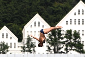 Italy's Alessandro de Rose competes in the men's high-diving