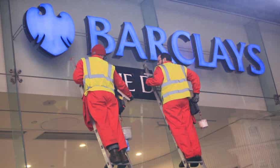 Greenpeace activists protest against Barclays in central London in December over its funding of tar sands pipelines in Canada