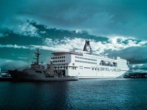 MS Norröna in the port of Tórshavn, Faroe Islands