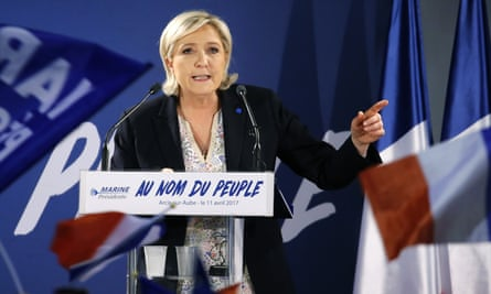 Marine Le Pen holds a campaign rally in Arcis-sur-Aube earlier this week