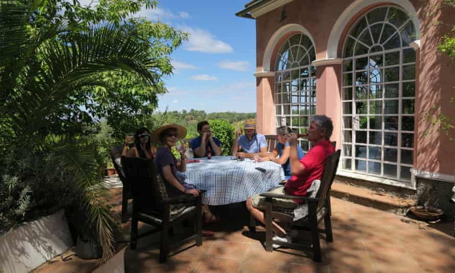 Pre dinner drinks at Write it Down retreat near Seville