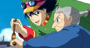 A scene from the film version of Howl's Moving Castle.