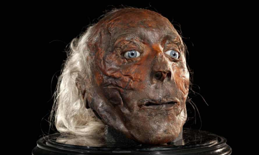 The preserved skull of urban reformer Jeremy Bentham, held at UCL.