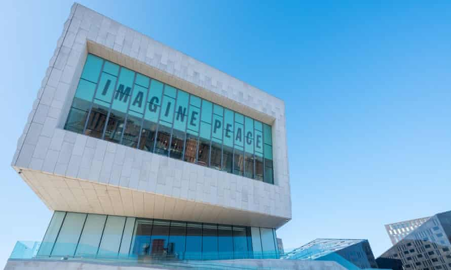 Imagine Peace sign at the John and Yoko Exhibition, Museum of Liverpool