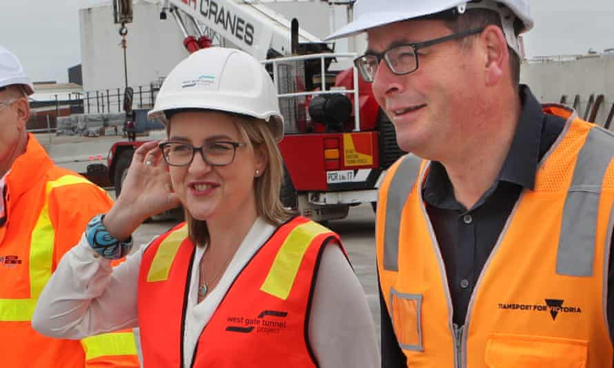 Jacinta Allan with the Victorian premier Daniel Andrews