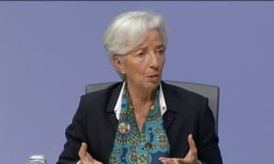 ECB president Christine Lagarde at her first press conference