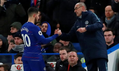 Maurizio Sarri questions Eden Hazard's ability to be a leader for Chelsea