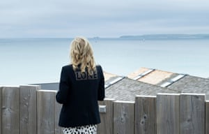 US First Lady, Jill Biden, looks out across the sea at Carbis Bay ahead of the three-day G7 summit