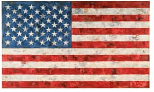 Jasper Johns's masterpiece, Flag (1967) : 'a vision of glory in blood red, deep blue and the white of whipped waves'