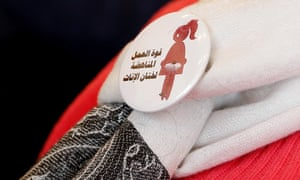 A badge reads 'The power of labour against FGM'