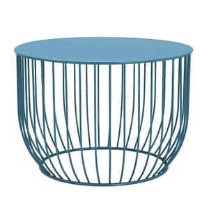Blue Lois coffee table with metal base from Marks and Spencer