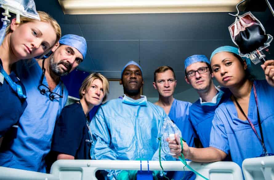 The staff of St Mary's, Paddington in BBC2's Hospital.