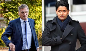 Former FIFA secretary general Jerome Valcke and Paris Saint-Germain's Qatari president Nasser al-Khelaifi are the subject of a criminal investigation in Switzerland.