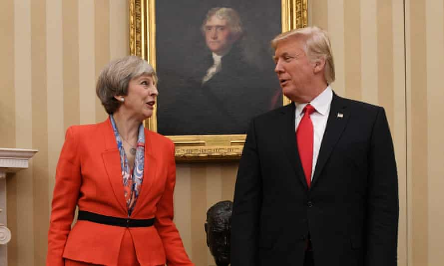 Theresa May and Donald Trump during her visit to Washington last month
