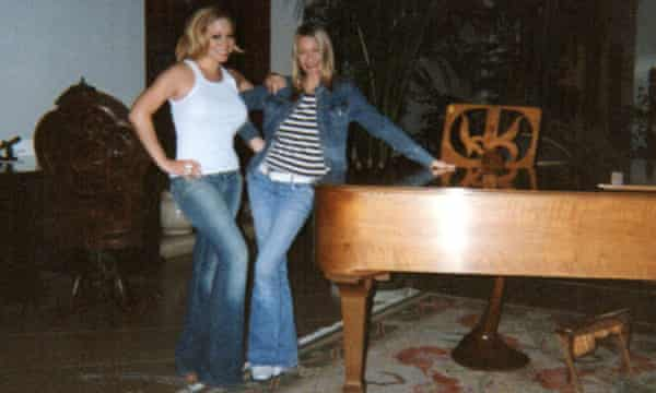 Patterson at Mariah Carey's house in 2005.