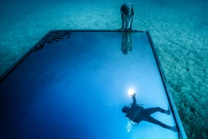 Museo Atlantico Lanzarote.Europe S First Underwater Museum Opens Off Lanzarote Travel The