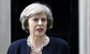 Theresa May speaks to the media outside 10 Downing Street