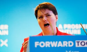 'Ruth Davidson has resigned from the leadership, but not yet from her party.'