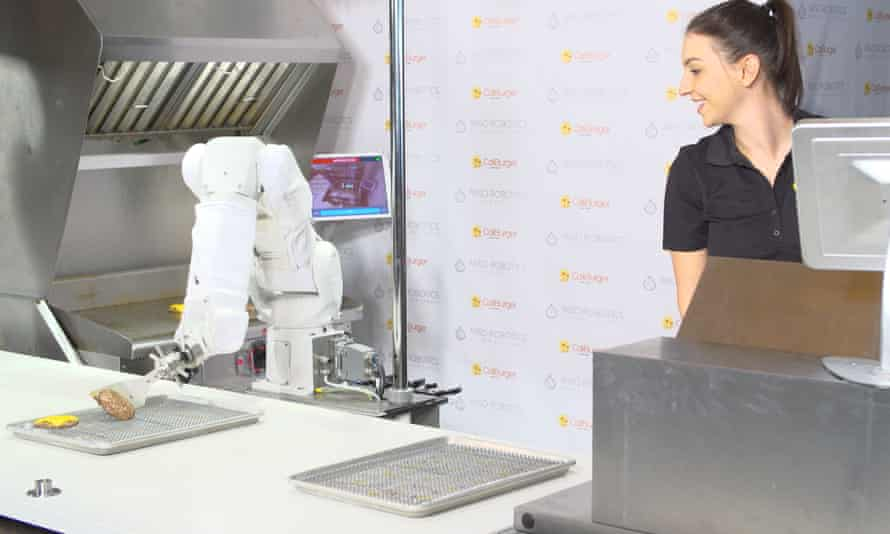 Flippy, a robot cook that works at Caliburger in Pasadena.