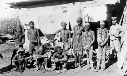 Prisoners from the Herero and Nama tribes during the 1904-1908 war against Germany.