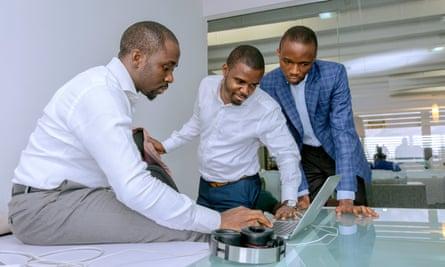 Opeyemi Awoyemi, Ayodeji Adewunmi and Olalekan Olude, founders of jobs site Jobberman