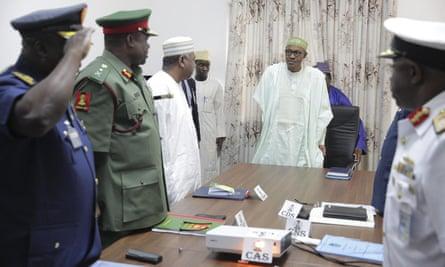Muhammadu Buhari and service chiefs