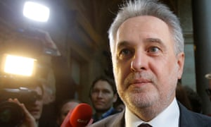 Ukrainian mogul Dmytro Firtash arrives at court in Vienna on Tuesday.