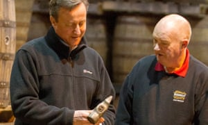David Cameron at the Bushmills distillery in Co Antrim